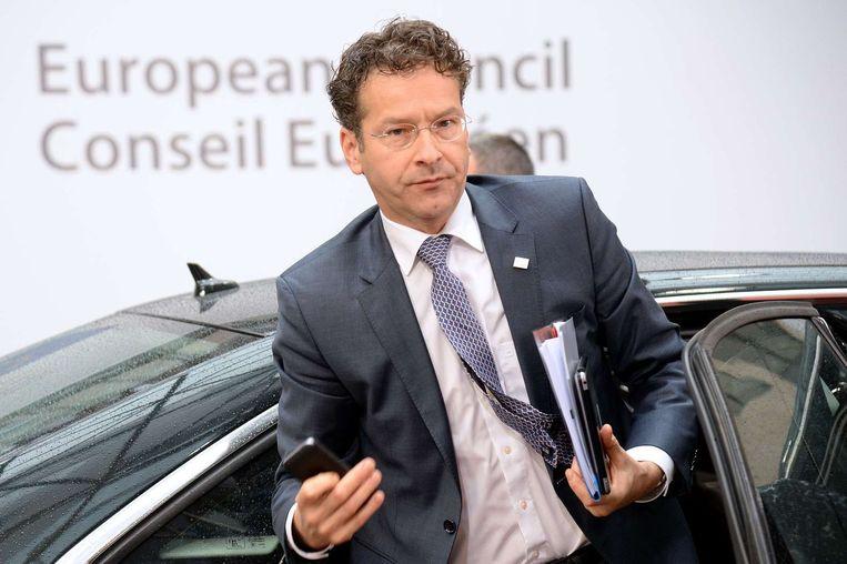 Minister Jeroen Dijsselbloem houdt zijn kruit droog. Beeld ap