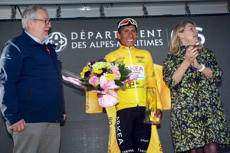 Nairo Quintana eindwinnaar van de Ronde van de Haut-Var.