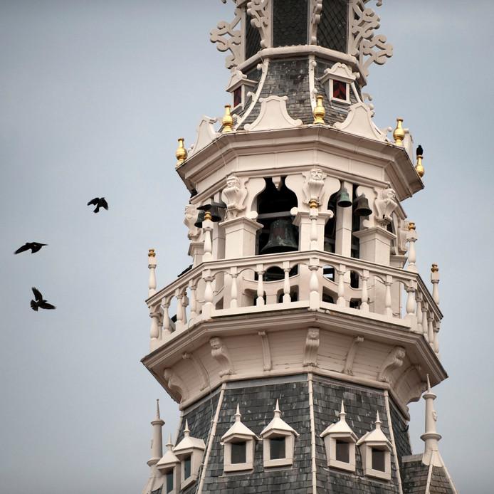 Het carillon in het toren van het Stadhuismuseum