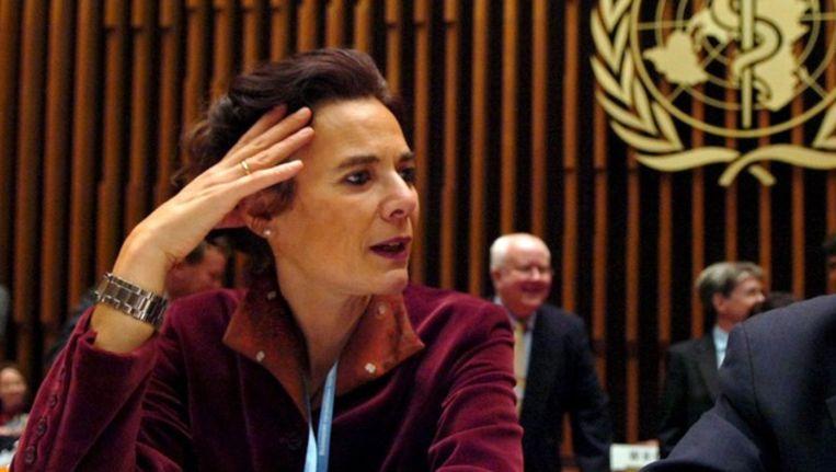 Louise Fresco in 2005 tijdens een internationale top. Beeld EPA