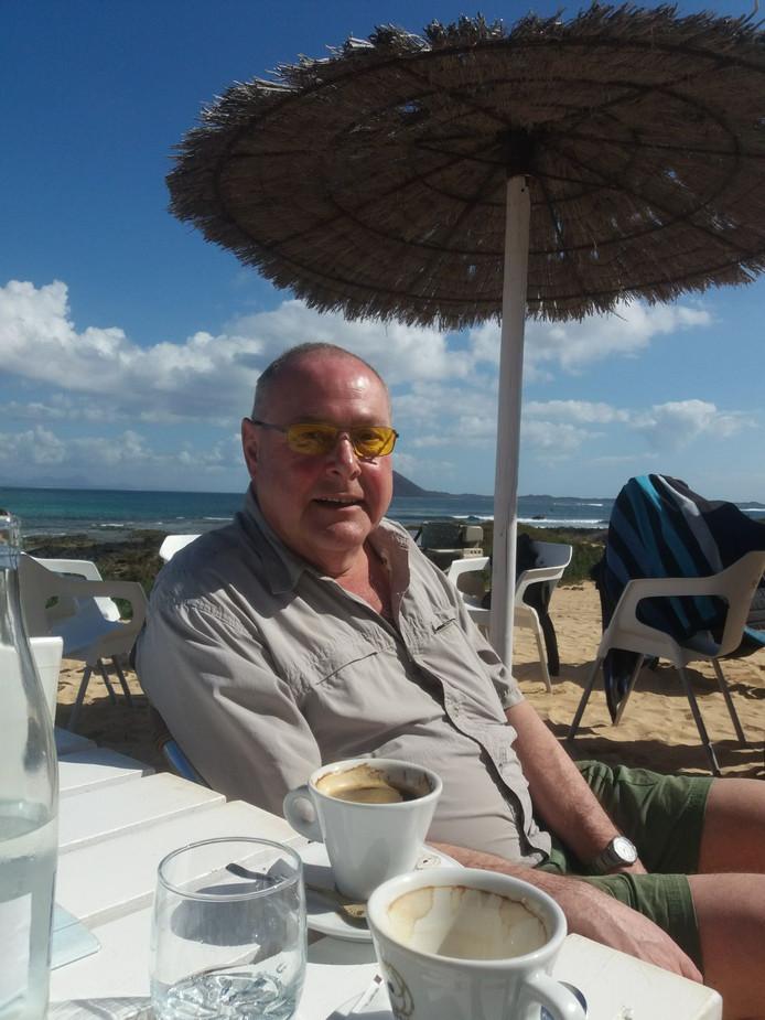 Henk-Jan ter Horst op Fuerteventura, een van de Canarische Eilanden.
