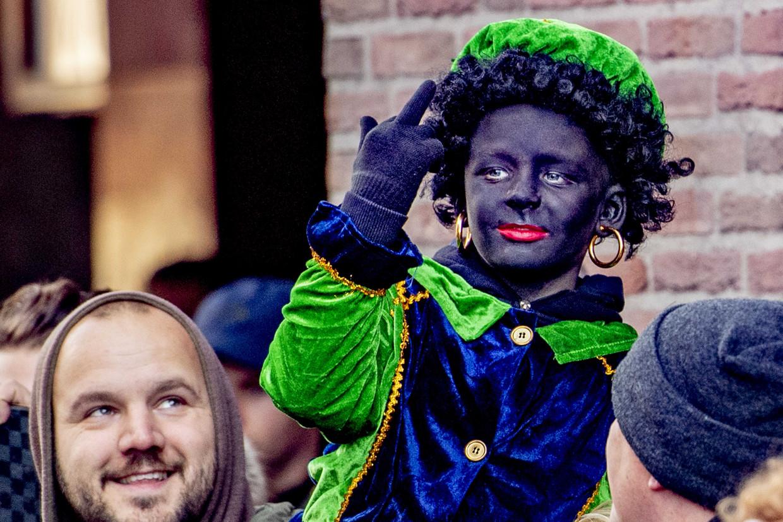 Een Zwarte Piet in Utrecht.