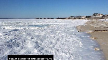Extreme koude: oceaan vriest dicht in VS