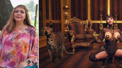 """'Tiger King'-ster Carole Baskin reageert op 'WAP'-videoclip van Cardi B: """"Schadelijk beeld van tijgers en luipaarden"""""""