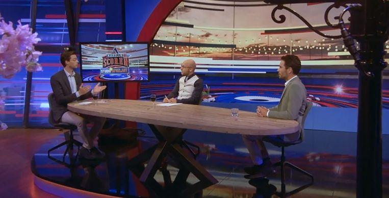 Tex de Wit, Diederik Smit en Jonathan van het Reve in Studio Afgelast. Beeld