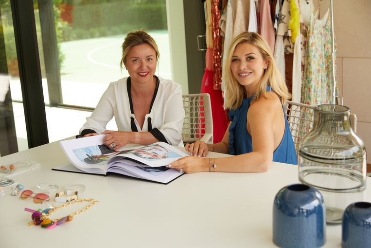 Michele Lacroix met kunstenares Isabelle Scheltjens