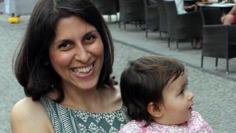 Zaghari-Ratcliffe met haar dochter. Beeld ap
