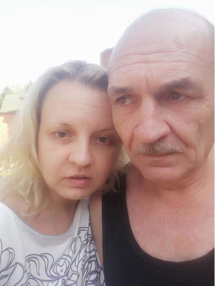 MH17-verdachte Vladimir Tsemach met zijn dochter Maria Levtsenko.
