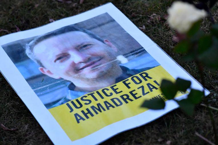 De terdoodveroordeling van professor  Ahmadreza Djalali leidde vorig jaar tot internationaal protest. Sympathisanten hielden in februari 2017 een demonstratie voor de Iraanse ambassade in Brussel.