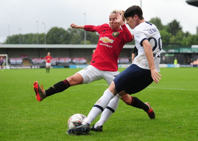Jackie Groenen won met Manchester United met 0-3 van Tottenham Hotspur.