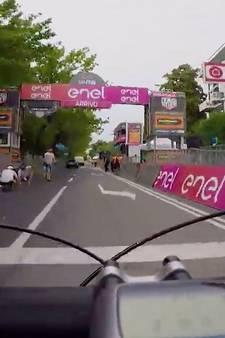 De laatste km van etappe 17