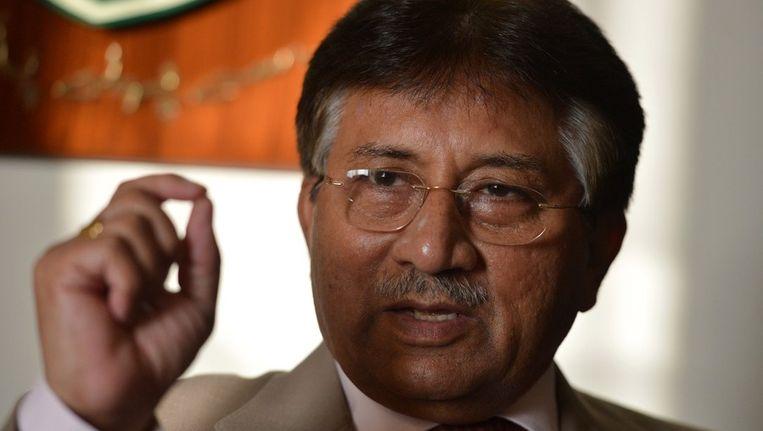 Pervez Musharraf, gisteren tijdens een interview. Beeld afp