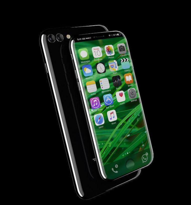 Gaat de nieuwe iPhone 8 er zo uitzien? De Duitse site Handy Abovergleich doet een poging. Beeld Handy Abovergleich