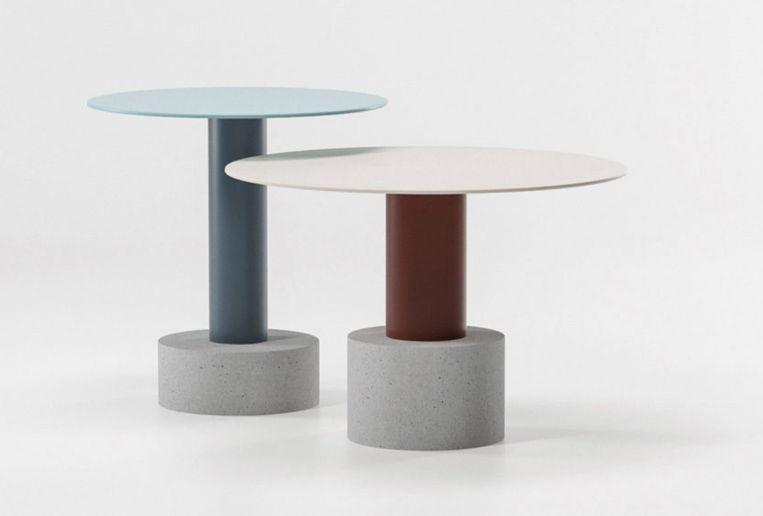 Bijzettafel 'Roll' is een ontwerp van Spaanse architect Patricia Urquiola, prijs op aanvraag.  kettal.com Beeld null