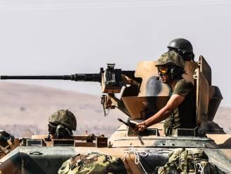 Turkse luchtaanvallen in Koerdisch gebied in Syrië