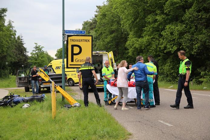 Ongeluk op de Burgemeester van Woenseldreef.