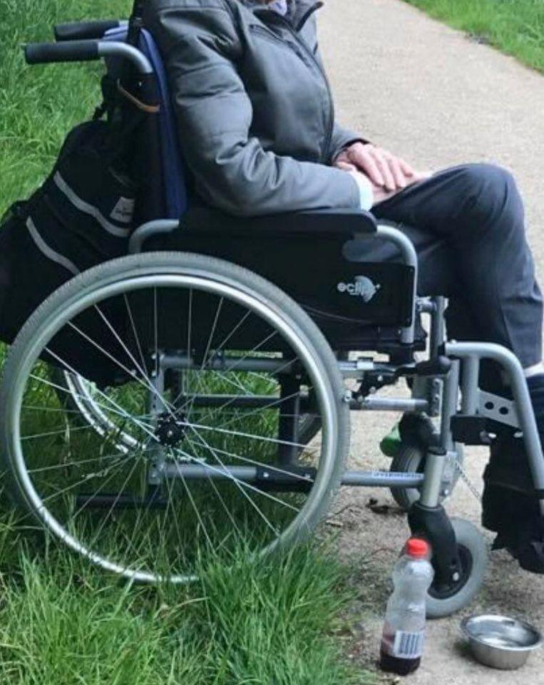 De rolstoel van Frans Helsen werd per ongeluk verkocht.