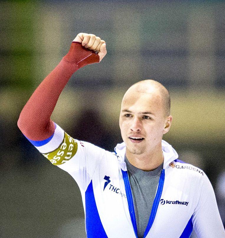 Pavel Koelizjnikov was een van de grote kanshebbers voor goud op de 500 meter en de 1000 meter. Beeld anp