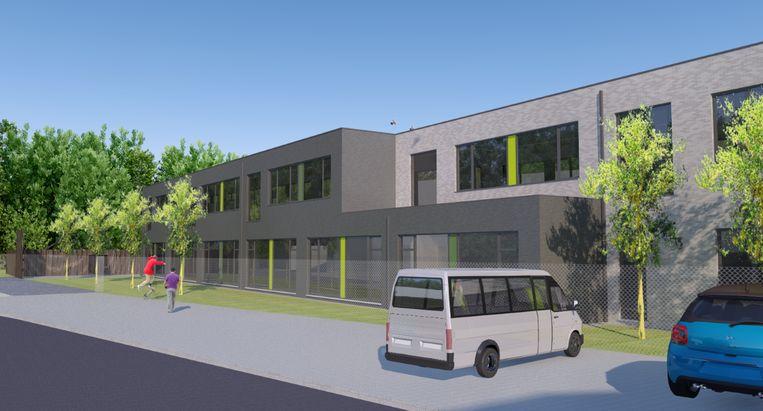 Dit wordt het zicht op de nieuwe Taborschool in Maria-Aalter.