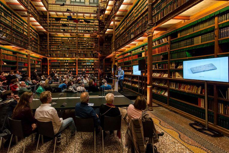 Nacht van de Geschiedenis in de bibliotheek van het Rijksmuseum Beeld Jan Kees Steenman