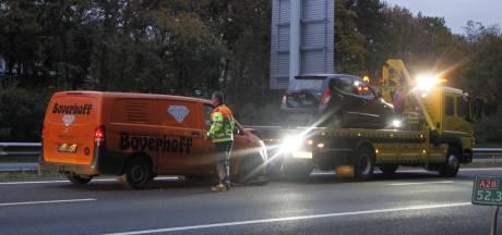 File op A28 bij Harderwijk door ongeval