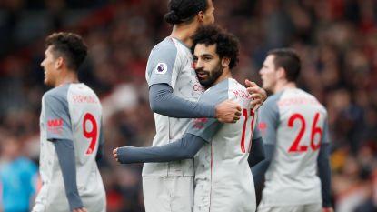 Salah andermaal grote man bij Liverpool, dat over City naar leiding springt in Premier League. Knullige owngoal van Bournemouth gaat de wereld rond
