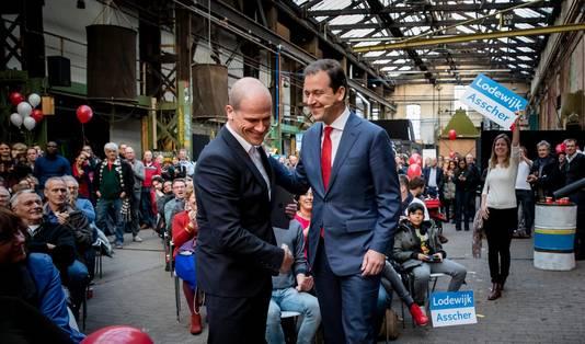 Samson en Asscher schudden elkaar vandaag in Roest, Amsterdam de hand