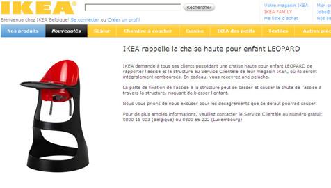 Les Pour Dangereuse 7sur7 Une EnfantsEconomie Ikea Haute Chaise be 4R5Ljq3A