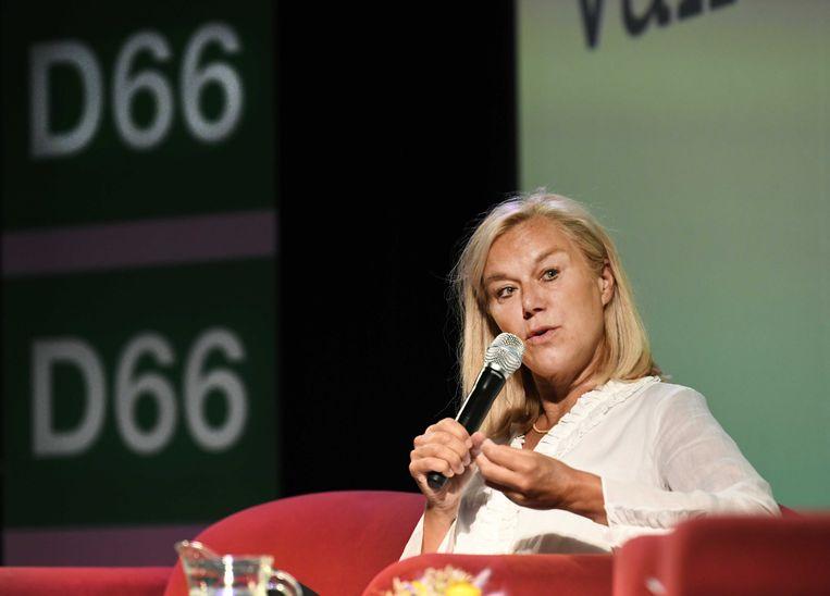 Sigrid Kaag vorige maand tijdens de interne lijsttrekkersverkiezing van D66. Beeld ANP