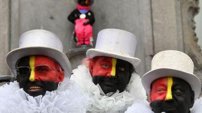Zwarte 'Noirauds' schilderen hun gezichten voortaan in Belgische driekleur