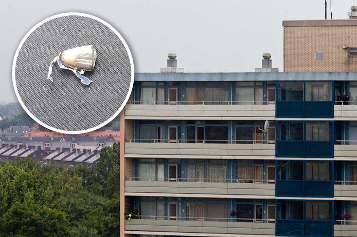 Bij de James Last flat in Holtenbroek vond woensdagmiddag een schietincident plaats. Kevin Koopman vond op straat bij zijn bus de kogelkop.