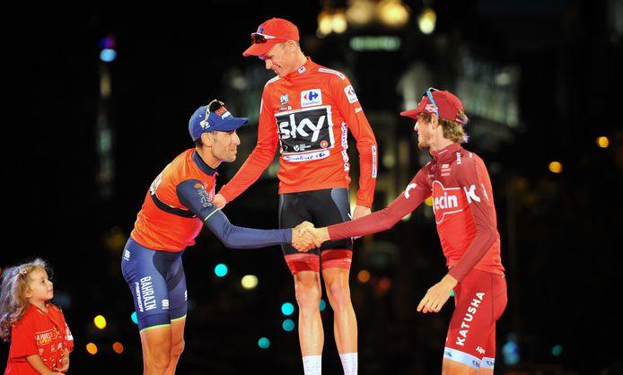 Nibali werd tweede, Zakarin derde.