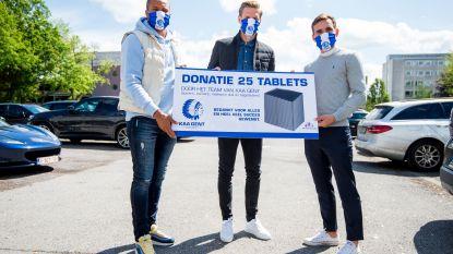 """Odjidja, Kums en Kaminski schenken 100 tablets aan Gentse ziekenhuizen: """"Wij treden nu even in de schaduw voor degenen die het coronavirus tackelen"""""""