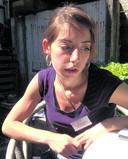 Michelle Bostelaar op het dieptepunt van haar ziekte.