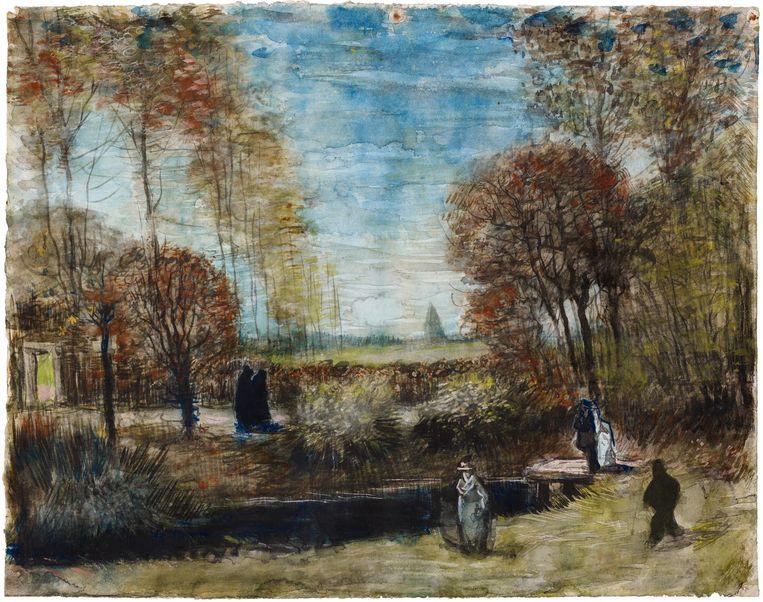 De tuin van de pastorie te Nuenen van Vincent van Gogh. Beeld anp