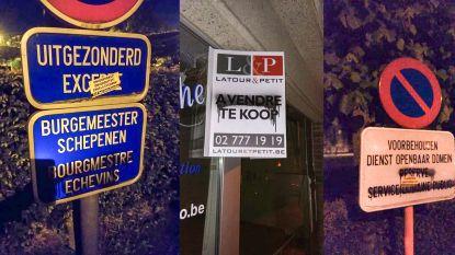 T.A.K. houdt nachtelijke actie in faciliteitengemeenten: Franstalige opschriften overspoten of overplakt