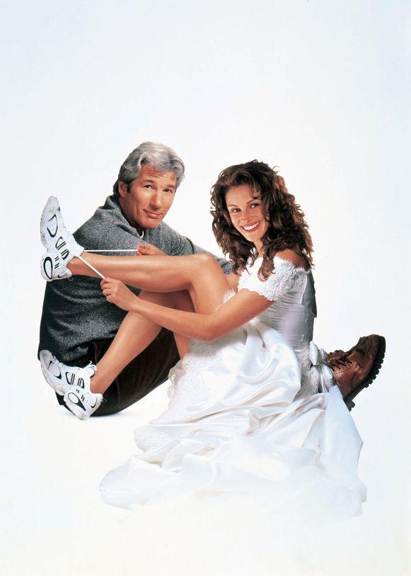 Julia Roberts en Richard Gere in 'The Runaway Bride'.