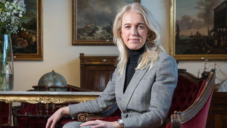 Elise Trommelen: 'Het is fijn om dag in dag uit bezig te zijn met geschiedenis en met bijzondere verhalen' Beeld Dingena Mol