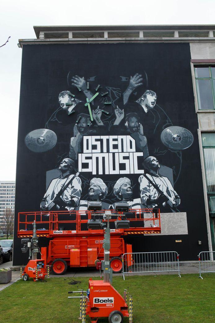 Dit gigantische kunstwerk uit 2016 is intussen verdwenen, maar maakt plaats voor nieuwe streetart.