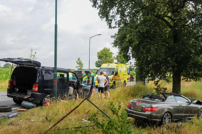 Ongeval op de Schoordijk in Budel.