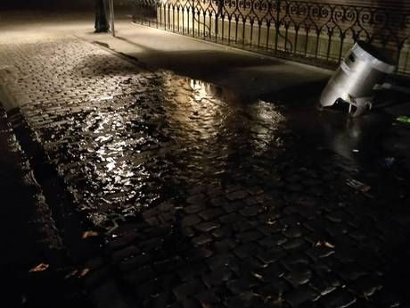 Angst voor 'sinkhole' door vernieling waterkraan in Den Bosch