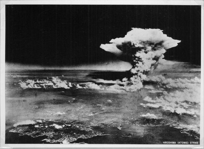 De atoombom op Hiroshima.