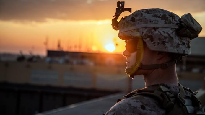 Soldats américains à Bagdad en Irak.
