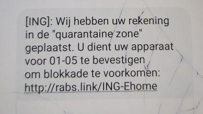Nog meer sms-oplichtingen met bankrekening 'in quarantaine': koppel is 3.000 euro kwijt