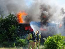 Sauna brandt af op terrein van smederij in Budel