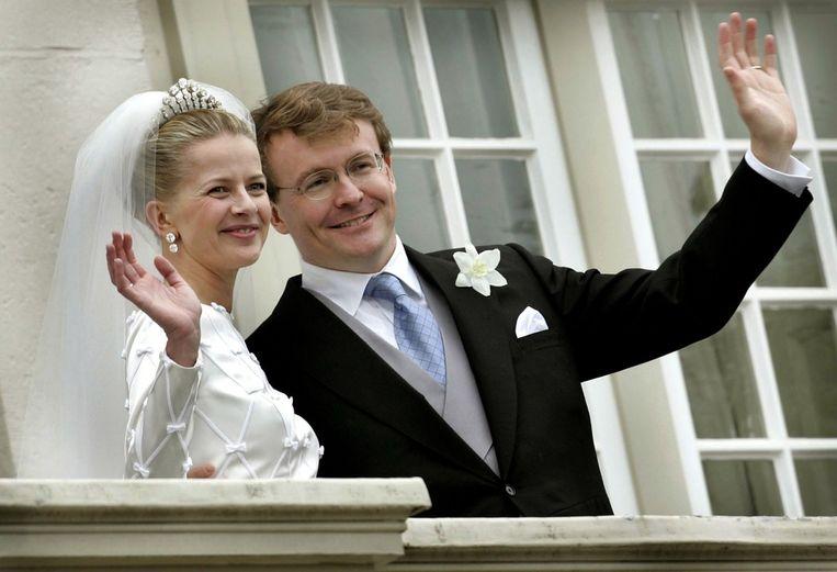 Mabel en Friso tijdens hun huwelijk in 2004 Beeld reuters