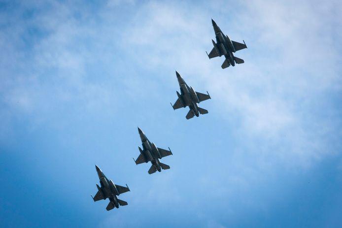 F16's van de vliegbasis Volkel