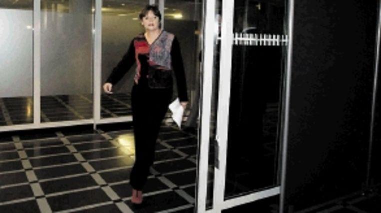 Ella Vogelaar verscheen bij Nova op rode schoenen. (FOTO ANP) Beeld ANP