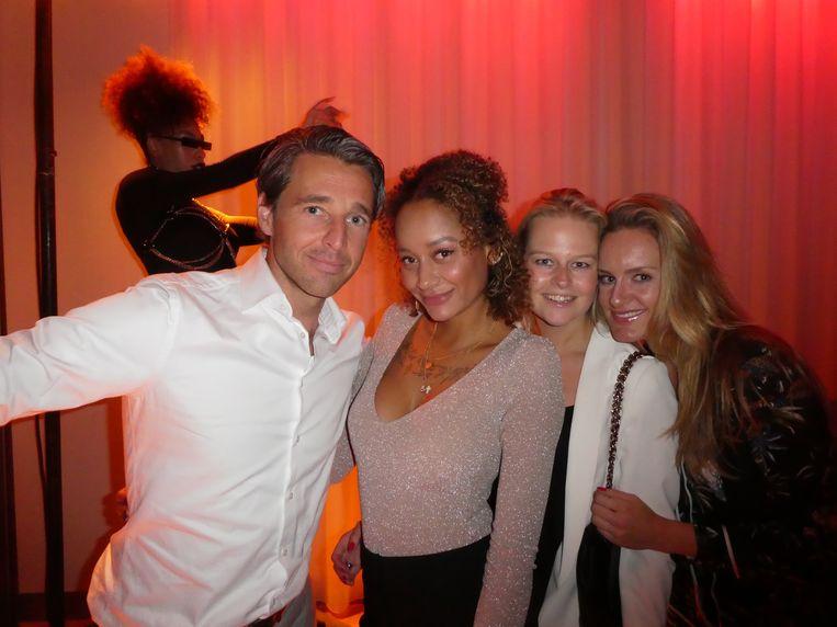 Patrick Verhulst (Amsterdam In Business), Mical Joseph (LXRY TV), lifestylecoach Claire den Uyl (