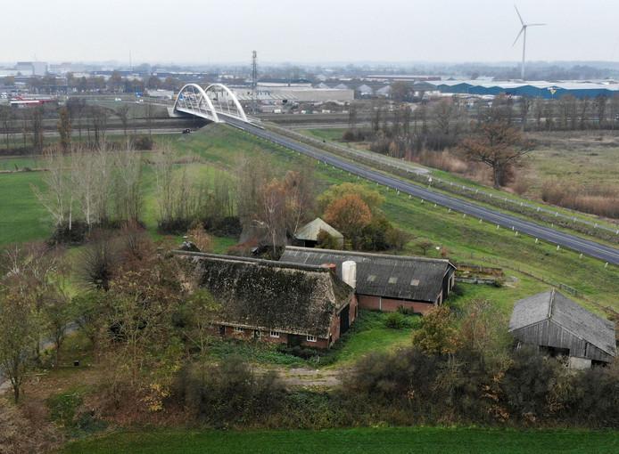 De boerderij die IJsselwind uiteindelijk voor zeven ton van de provincie gaat kopen.